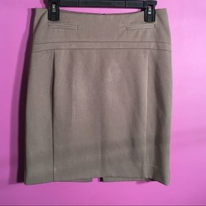 Express - size 2 - straight tan skirt length 19""